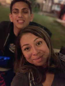 Jeanine Garcia with her son Nathan, who has Xia-Gibbs Syndrome